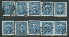 Canada #O255(2) PERFIN 5 cent deep blue GEORGE VI OFFICIAL O.H.M.S. 10 Used