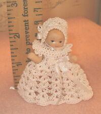Miniature Dress for 2 1/2 inch Doll Handmade Crochet