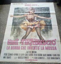 NINI TIRABUSCIO manifesto 2F originale 1970
