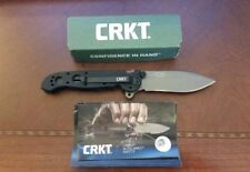 CRKT M21-02G Carson G10 Handle Plain Edge Drop Point Blade Flipper Pocket Knife