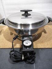"Vollrath #24  11"" Electric Skillet Frying Pan w/Lid"