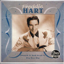 ROCKABILLY REPRO: FREDDIE HART Snatch It & Grab It/Dig Boy Dig SLEAZY/COLUMBIA