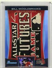 Will Middlebrooks 2011 Bowman Draft JUMBO Game Worn ALL-STAR LOGO PATCH TRUE 1/1