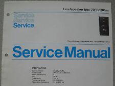 Philips 70 FB330 Lautsprecher Box Service Blatt