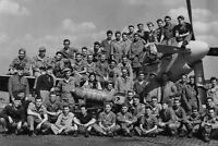 WWII B&W Photo P-51 Mustang Crews 8th AF US Army Air Force World War WW2 /5076