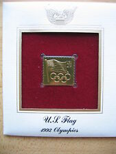 New listing 1992 Us Flag Olympics Replica First Day 22 kt Gold Stamp 1991 Fdc Golden Cover