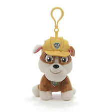 GUND Paw Patrol Rubble Puppy Dog Backpack Clip, 4""