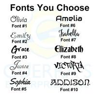 Personalized Custom Vinyl Lettering Name Decals Stickers Window Text Name 2 inch