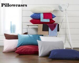 Dark Grey Off White Light Pink Cream Pillowcases Covers Pillowslips Cotton Blend