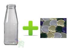 40 Bottiglie barattolo con capsule in vetro alimentare per passata salsa succo