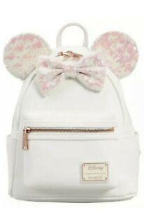 LOUNGEFLY MINNIE MOUSE SEQUIN COSPLAY BACKPACK NEW