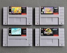 SNES SUPER NINTENDO 4 GAMES LOT Rocko's Modern Life Real Monsters Pilotwings +JP