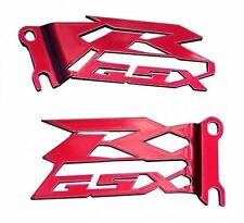GSX-R GSXR 600 750 1000 SRAD FOOT PEG HEEL GUARDS PLATES NEW! CUT OUT  RED