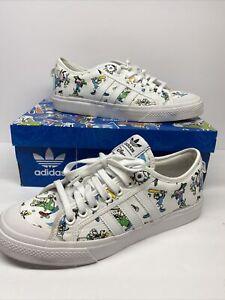 Adidas Originals Mens Nizza X Disney Sport Goofy Shoes Sneakers SIZE 9.5 FW0645