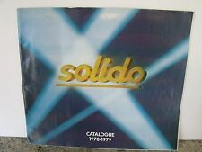 """SOLIDO 1978-79 COLLECTOR'S CATALOG,COLOR,12 PAGES, 8""""X 9"""",EXCELLENT CONDITION"""