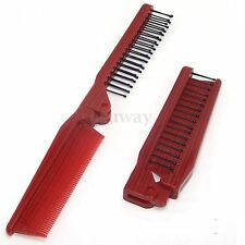 Lovely Multifunction Red Folding Pocket Travel Hair Brush Comb Accessories