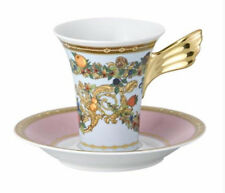 ROSENTHAL VERSACE COFFEE CUP SAUCER SET LE JARDIN New Authentic