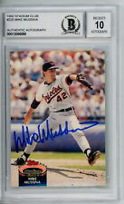 Mike Mussina 1992 Topps Stadium Club Signed Autographed Card Beckett Graded 10