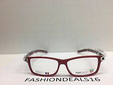 3dedbfceda4 New Tag Heuer w TAGS 7604 Track S Red Black TH7604 005 56mm Optical  Eyeglasses