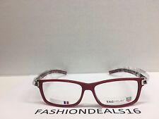3dedbfceda4 New Tag Heuer w TAGS 7604 Track S Red Black TH7604 005 56mm Optical  Eyeglasses