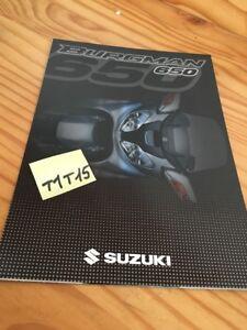 Suzuki Scooter Burgman 650 2003 Catálogo Folleto Publicidad Prospecto Pub