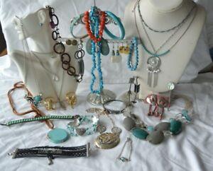 Southwestern Style Jewelry Lot: Necklaces, Bracelets & Earrings & More  (9.27)