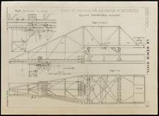 Paris-Austerlitz, plan ancien d'un transbordeur monorail. 1909