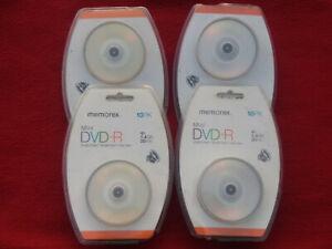 4X Pack Of 10 Memorex Mini DVD-R 4X 1.4GB 30 Min.