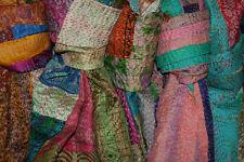 50pc Wholesale Lot Kantha Silk Needle Hand Stitch Patchwork Stole Handmade Scarf