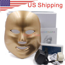 7 Colors LED Photon Skin Rejuvenation Light Reduces Wrinkles Facial Mask Gold