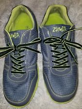 ZUMBA LADIES GRAY/GREY LADIES LIME GREEN TRIM SHOES/SNEAKER/ATHLETIC SIZE 9