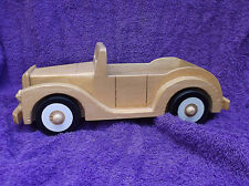 Vintage Great American Audio Corp. Wooden Car