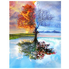 Wishing Tree Diamond Embroidery Painting Kit 5D Cross Stitch Craft Home Decor US