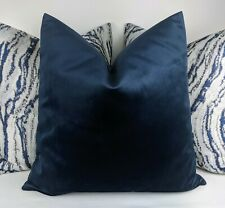 John Lewis Luxury Knitted Velvet in indigo Fabric Cushion Cover 18x18""