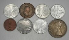 Lot of 8 Vintage Italy Foreign Currency Coins 1777-1958 AG214