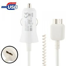 Car Charging Cable White 36 cm to 140 for Samsung Galaxy Note 3 N9000 N9005 LTE