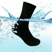Black Waterproof Socks Breathable Bamboo Fiber Comfort Running Riding Socks