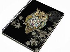 Bug Art Owl A6 Lined Notebook