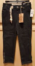 9West Vintage America Rinse Wash Stretch Denim Ankle Zip Jegging Capri Jean 2/25