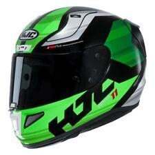Helmet casque moto Hjc Rpha 11 Naxos white black green MC4 size S integral helm