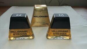 2 VINTAGE MILLIONAIRE mens Aftershave By MENNEN 2 Fluid Oz One Boxed