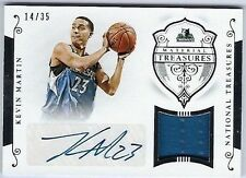 2014-15 National Treasures Kevin Martin Auto Patch #d /35 Minnesota Timberwolves