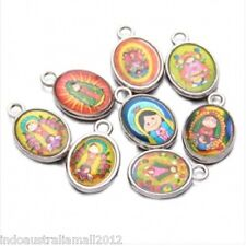 100 x Silvery Double Face Mixed Cartoon Person Alloy Pendants Charms(LB-147831)
