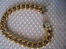750 Marked 18K Yellow Gold Jewelry Thick Curb Chain Bracelet 27.6 grams