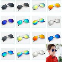 Cool Retro Aviator Sunglasses Metal Frame UV400 Protection Boy Girl Children