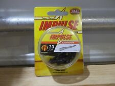 "Northland Impulse Bloodworm 1.5"" inches 20 per package black color"