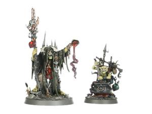 Warhammer Age of Sigmar Orruk Orc Kruleboyz Swampcalla Shaman w Pot-grot NOS