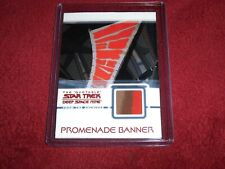 STAR TREK-QUOTABLE DS9-PROMENADE BANNER RELIC CARD-3 COLORS-LOW START!!