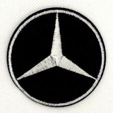 Black White Amg Car Logo Mercedes Benz Sew Iron on Patch Appliques Badge *373