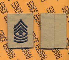 USA Enlisted SERGEANT MAJOR SGM E-9 Desert DCU slip on rank patch